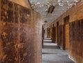 Long corridor inside Trans-Allegheny Lunatic Asylum Royalty Free Stock Photo