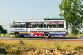 Long-distance Bus on the Jodhpur Highway in India Royalty Free Stock Photo