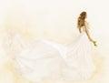 Long Dress, Woman Beauty Yello...
