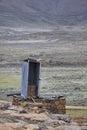 Long Drop toilet, Lesotho. Royalty Free Stock Photo