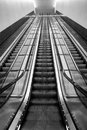 Long escalators Royalty Free Stock Photo