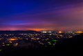 Long exposure of the shenandoah valley at night from skyline dr drive in national park virginia Stock Photography