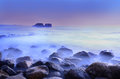 Long exposure shot seascape Royalty Free Stock Photos