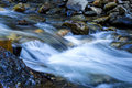 Long Exposure Small Stream Flowing Over Rocks Royalty Free Stock Photo