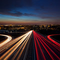 Long Exposure Speed Traffic at night  in the city Royalty Free Stock Photo