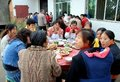 Long Feng, China: Luncheon Guests at Party Royalty Free Stock Images