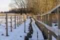 A long footbridge Royalty Free Stock Photo