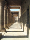 Long gallery at Temple of Philae, Egypt Royalty Free Stock Photos
