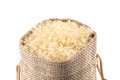 Long grain rice on white background Royalty Free Stock Photo