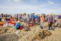 Long Hai fish market on the beach