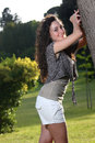 Long hair harmless and seductive teenager Royalty Free Stock Photo