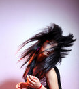 image photo : Long hair woman