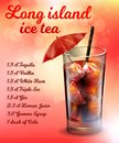 Long Island Ice Tea Alcohol Cocktail Recipe Banner