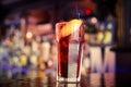 Long island ice tea on the bar iced Stock Photo