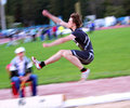 On the long jump Royalty Free Stock Image