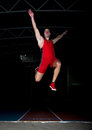 Long jump athlete Royalty Free Stock Photo