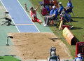 Long jump European Athletics Stock Photography