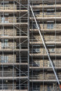 Long ladder on scaffolding Royalty Free Stock Photo