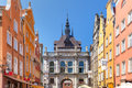 Long Lane and Golden Gate, Gdansk Old Town, Poland Royalty Free Stock Photo