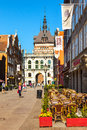 Long Lane and Golden Gate in Gdansk Royalty Free Stock Photo