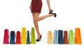 Long legs with shopping bags picture of woman s Royalty Free Stock Photo