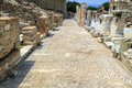 Long line of ancient mosaic at Ephesus, Turkey.