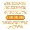 Long loaf alphabet numbers illustration Royalty Free Stock Photo