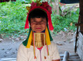 Long neck Karen tribe elder Royalty Free Stock Photo