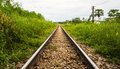 Long rail way Royalty Free Stock Photo