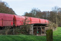 Long Railway freight train when passing Royalty Free Stock Photo
