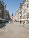 The long road gdansk poland europe Royalty Free Stock Photo