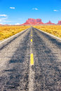 Long road monument valley arizona usa Royalty Free Stock Images