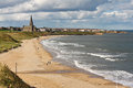 Long sands south beach at whitley bay a thriving tourist destination near tynemouth and newcastle upon tyne Royalty Free Stock Image