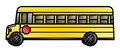 Long school bus illustration of a cartoon Royalty Free Stock Image