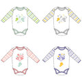 Long-sleeve baby bodysuits with cute design
