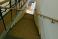 Long stairs in school Royalty Free Stock Photo