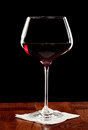 Long stem wine glass Stock Image