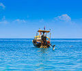 Long tail boat in the south of thailand at phi phi island krabi province Stock Photo