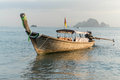 Long tail boats andaman sea thailand tropical beach thailand on beach andaman sea Stock Image
