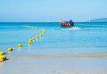 Long tail boats andaman sea thailand tropical beach thailand on beach andaman sea Stock Images