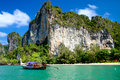 Long tail boats, Krabi Stock Photo