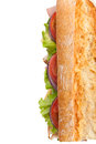Long Tasty Baguette Sandwich Royalty Free Stock Photo