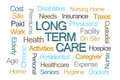 Long Term Care Word Cloud Royalty Free Stock Photo