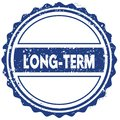 LONG TERM stamp. sticker. seal. blue round grunge vintage ribbon sign Royalty Free Stock Photo