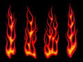 Long tribal flames Royalty Free Stock Images