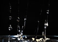 Long water spalsh drop Royalty Free Stock Photo