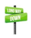 Long way down sings Royalty Free Stock Photo