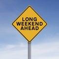Long Weekend Ahead Royalty Free Stock Photo