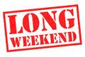 LONG WEEKEND Royalty Free Stock Photo