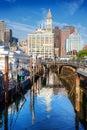 Long Wharf, Boston Stock Image